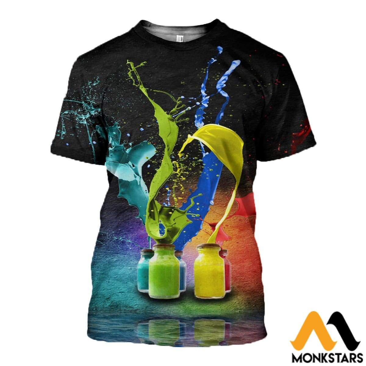 3D All Over Printed Color T-Shirt Hoodie St0L170406 / Xs Clothes