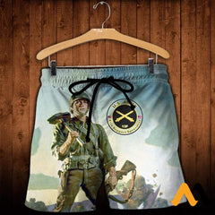 3D All Over Printed Combat Engineers Clothes Shorts / Xs