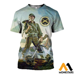 3D All Over Printed Combat Engineers Clothes T-Shirt / Xs