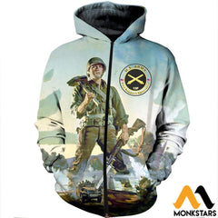 3D All Over Printed Combat Engineers Clothes Zipped Hoodie / Xs