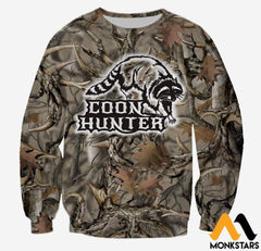 3D All Over Printed Coon Hunter Clothes Long-Sleeved Shirt / Xs