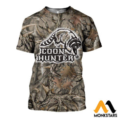 3D All Over Printed Coon Hunter Clothes T-Shirt / Xs