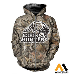 3D All Over Printed Coon Hunter Clothes Zipped Hoodie / Xs