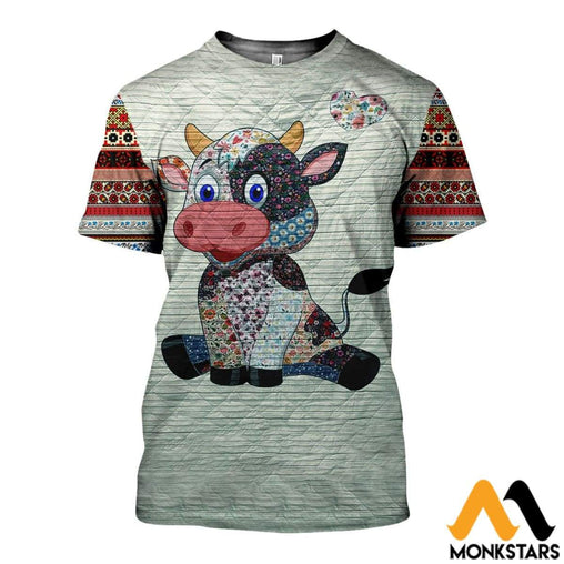 3D All Over Printed Cow Shirts And Shorts T-Shirt / Xs Clothes