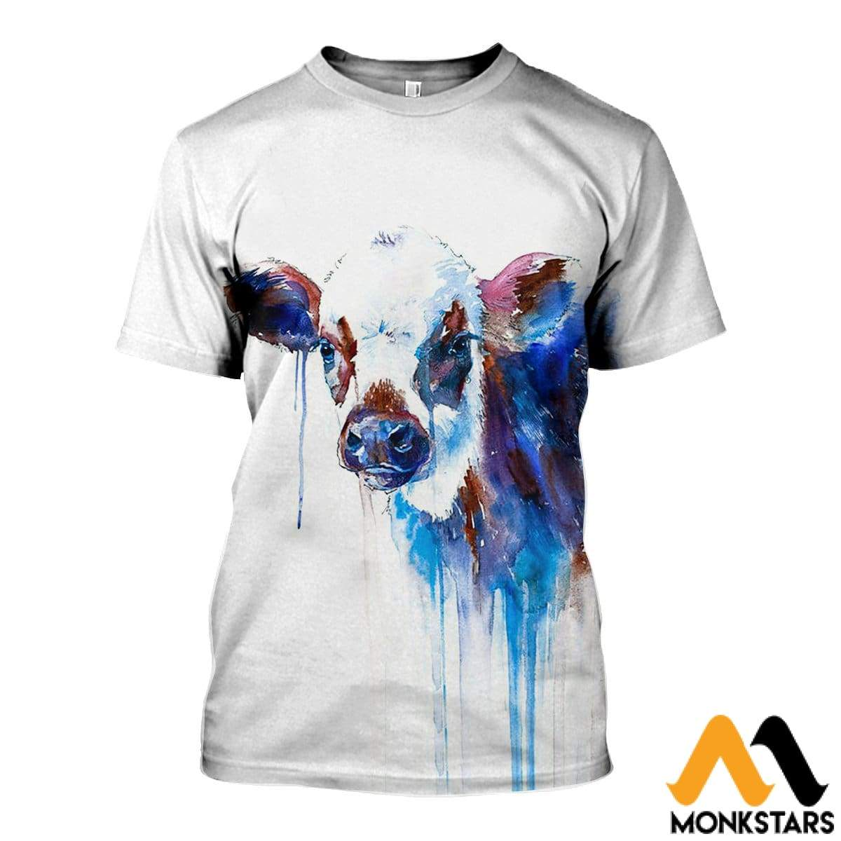 Over And 3d Shirts Printed Cow Monkstars Inc All Shorts f6yYbgv7I