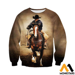 3D All Over Printed Cowboy Clothes Long-Sleeved Shirt / Xs