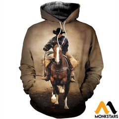 3D All Over Printed Cowboy Clothes Normal Hoodie / Xs