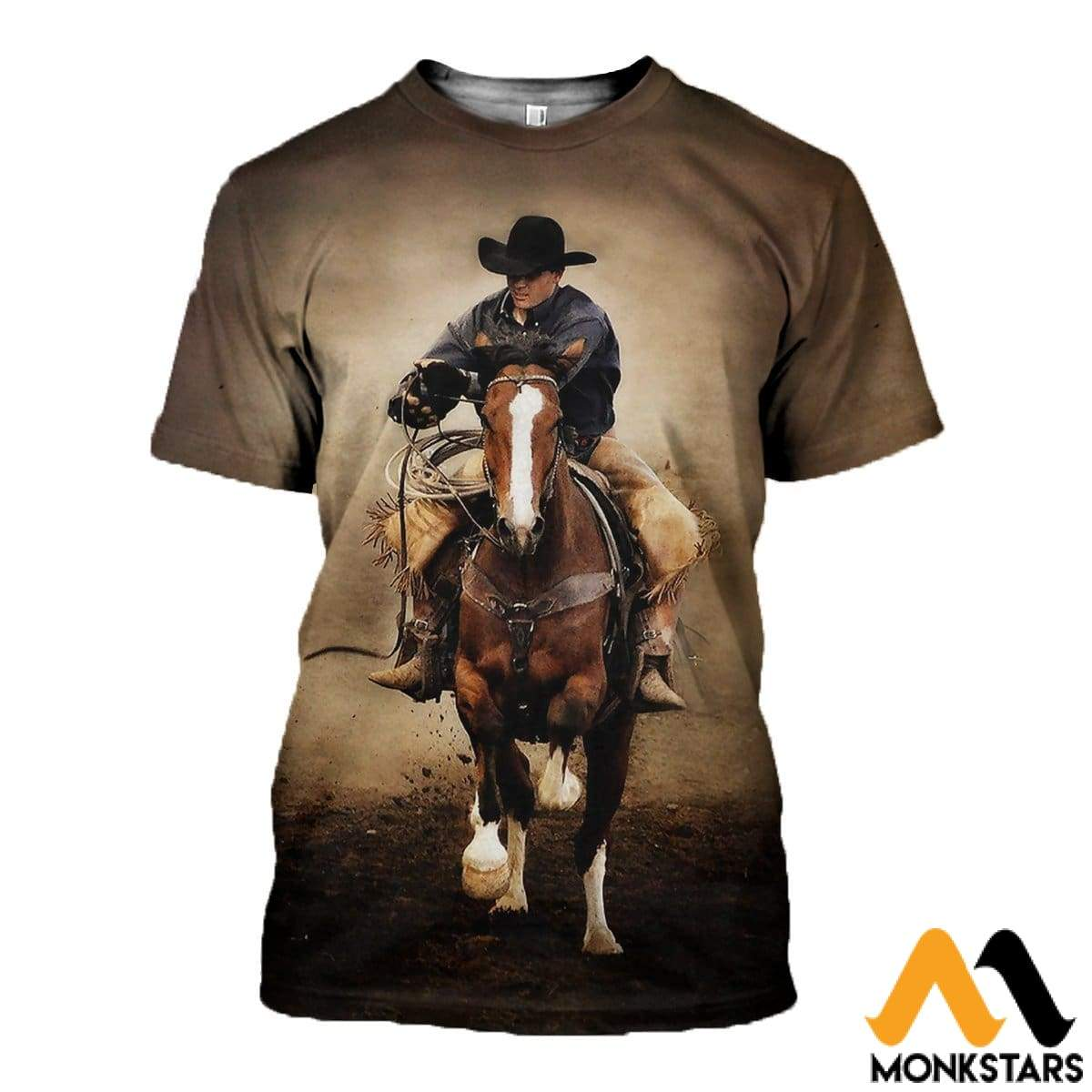 3D All Over Printed Cowboy Clothes T-Shirt / Xs