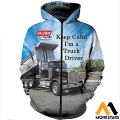 3D All Over Printed Custom Truck Shirts And Shorts Zipped Hoodie / Xs Clothes