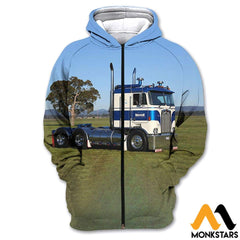 3D All Over Printed Custom Truck Tops Zipped Hoodie / Xs Clothes