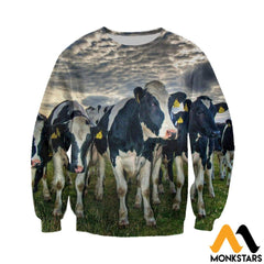 3D All Over Printed Dairy Cattle Shirts And Shorts Long-Sleeved Shirt / Xs Clothes
