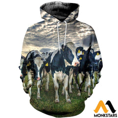 3D All Over Printed Dairy Cattle Shirts And Shorts Normal Hoodie / Xs Clothes