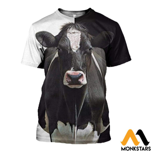 3D All Over Printed Dairy Cow Shirts And Shorts T-Shirt / Xs Clothes