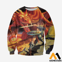 3D All Over Printed D&d Clothes Long-Sleeved Shirt / Xs