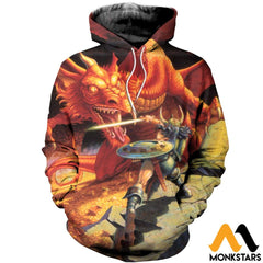 3D All Over Printed D&d Clothes Normal Hoodie / Xs
