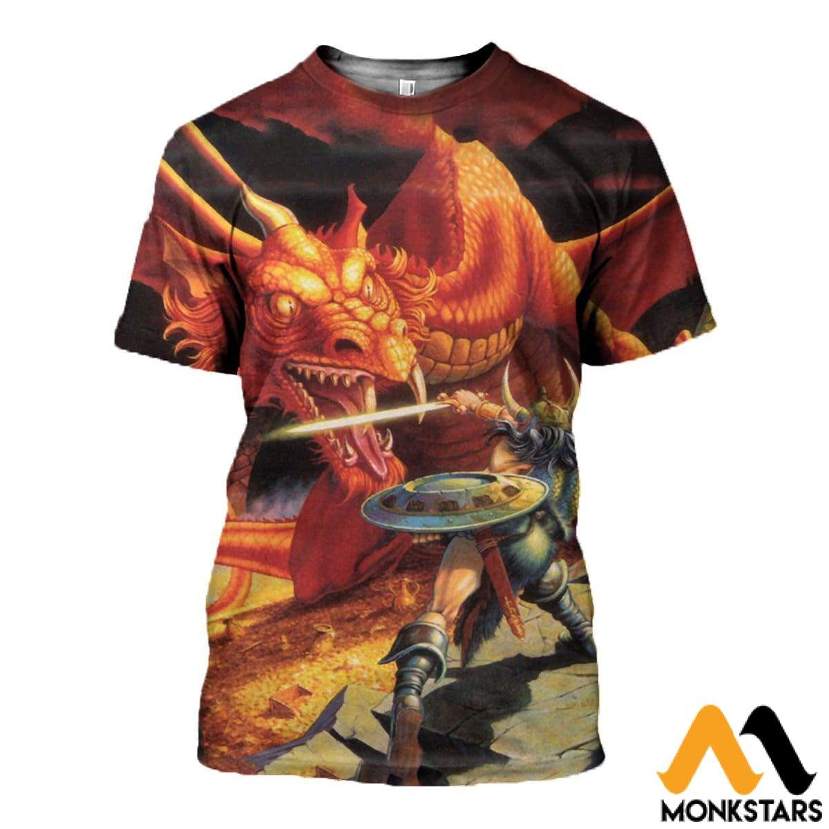 3D All Over Printed D&d Clothes T-Shirt / Xs