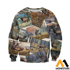 3D All Over Printed Deer Art Collection Shirts And Shorts Long-Sleeved Shirt / Xs Clothes