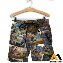 3D All Over Printed Deer Art Collection Shirts And Shorts / Xs Clothes