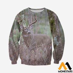 3D All Over Printed Deer Clothes Long-Sleeved Shirt / Xs