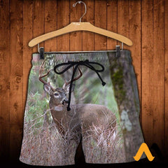 3D All Over Printed Deer Clothes Shorts / Xs
