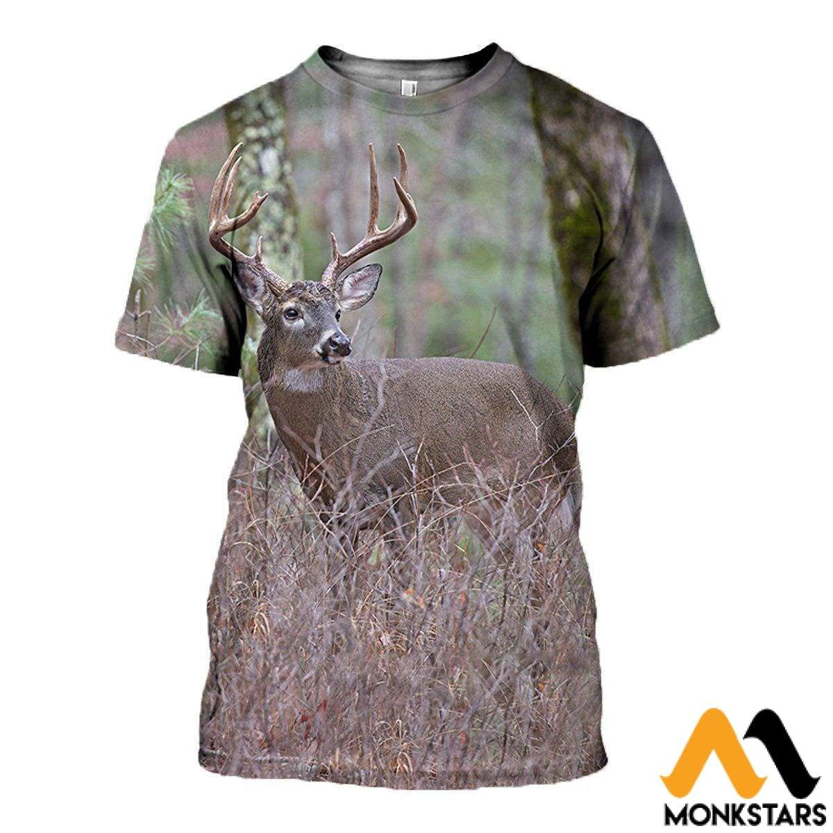 3D All Over Printed Deer Clothes T-Shirt / Xs