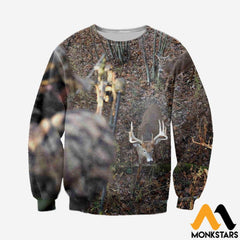 3D All Over Printed Deer For Love Clothes Long-Sleeved Shirt / Xs