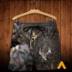 3D All Over Printed Deer For Love Clothes Shorts / Xs