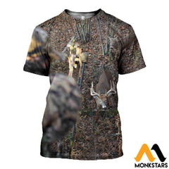 3D All Over Printed Deer For Love Clothes T-Shirt / Xs
