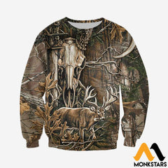 3D All Over Printed Deer Hunting Camo Clothes Long-Sleeved Shirt / Xs