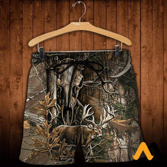 3D All Over Printed Deer Hunting Camo Clothes Shorts / Xs