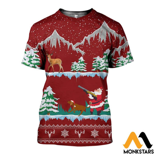 3D All Over Printed Deer Hunting Shirts And Shorts T-Shirt / Xs Clothes