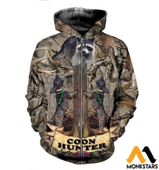 3D All Over Printed Deer Tops Zipped Hoodie / Xs Clothes