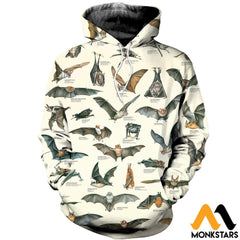 3D All Over Printed Different Types Of Bats Shirts And Shorts Normal Hoodie / Xs Clothes