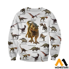3D All Over Printed Dinosaurs Collection Shirts And Shorts Long-Sleeved Shirt / Xs Clothes