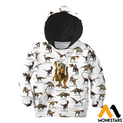 3D All Over Printed Dinosaurs Collection Shirts And Shorts Normal Hoodie / Toddler 2T Kid Clothes