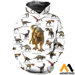3D All Over Printed Dinosaurs Collection Shirts And Shorts Normal Hoodie / Xs Clothes