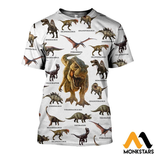 3D All Over Printed Dinosaurs Collection Shirts And Shorts T-Shirt / Xs Clothes