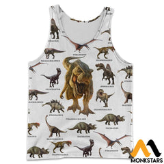3D All Over Printed Dinosaurs Collection Shirts And Shorts Tank Top / S Clothes