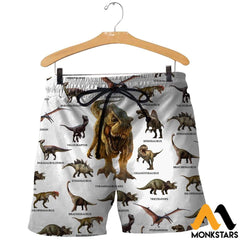 3D All Over Printed Dinosaurs Collection Shirts And Shorts / Xs Clothes