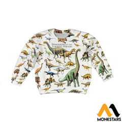 3D All Over Printed Dinosaurs Shirts And Shorts Long-Sleeved Shirt / Toddler 2T Kid Clothes