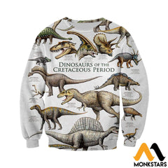 3D All Over Printed Dinosaurs Shirts And Shorts Long-Sleeved Shirt / Xs Clothes