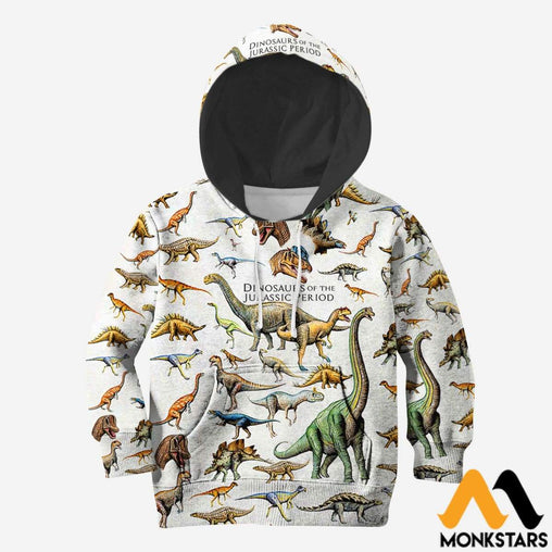 3D All Over Printed Dinosaurs Shirts And Shorts Normal Hoodie / Toddler 2T Kid Clothes
