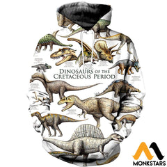 3D All Over Printed Dinosaurs Shirts And Shorts Normal Hoodie / Xs Clothes