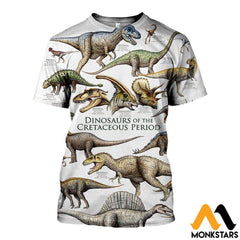 3D All Over Printed Dinosaurs Shirts And Shorts T-Shirt / Xs Clothes