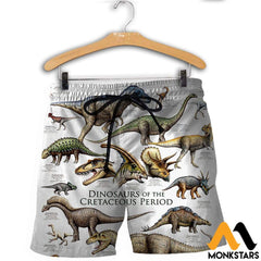 3D All Over Printed Dinosaurs Shirts And Shorts / Xs Clothes