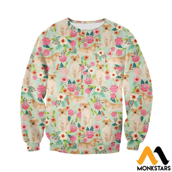 c86ecb09980c 3D All Over Printed Dog and flowers Tops - Monkstars Inc.