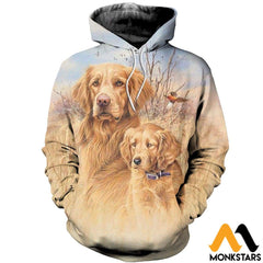 3D All Over Printed Dog Hunting Art Shirts And Shorts Normal Hoodie / Xs Clothes