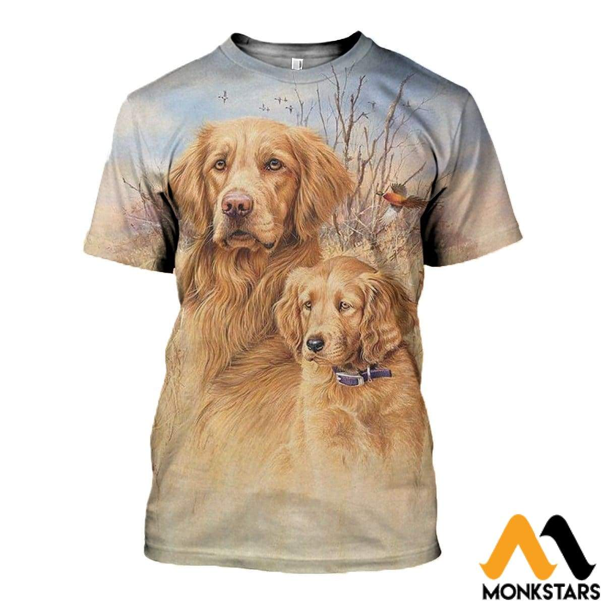 3D All Over Printed Dog Hunting Art Shirts And Shorts T-Shirt / Xs Clothes