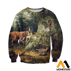 3D All Over Printed Dog Hunting & Grouse Shirts And Shorts Long-Sleeved Shirt / Xs Clothes