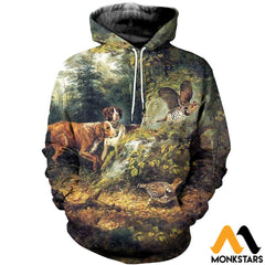 3D All Over Printed Dog Hunting & Grouse Shirts And Shorts Normal Hoodie / Xs Clothes
